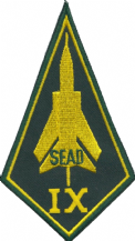 No. IX (9) (B) Squadron RAF Panavia Tornado SEAD Diamond Embroidered Patch